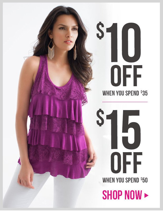 Special coupons! Up to $15 OFF! In-store and online! SHOP NOW!