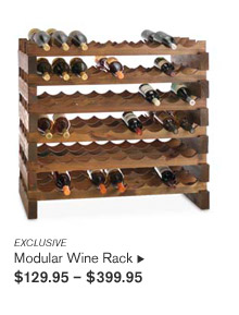 EXCLUSIVE -- Modular Wine Rack, $129.95 - $399.95