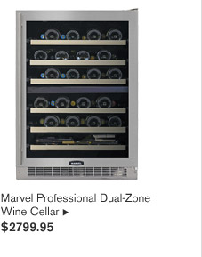 Marvel Professional Dual-Zone Wine Cellar, $2799.95