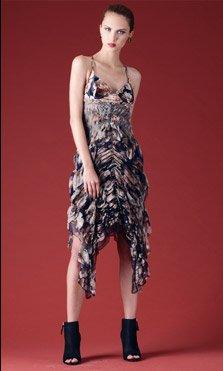 Jean Paul Gaultier Femme Ruched Keyhole Dress