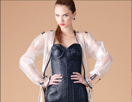 Jean Paul Gaultier Femme Genuine Leather Corset Style Dress