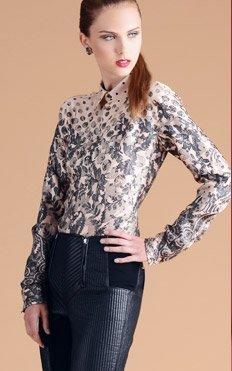 Jean Paul Gaultier Femme Button-Up Silk Blouse