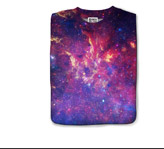 Mr. Gugu & Miss Go Purple Nebula Print T-Shirt