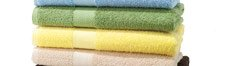 Bath towels and rugs. Select styles.