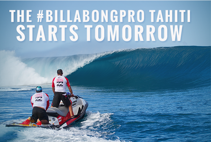 The #BillabongPro Tahiti is days away