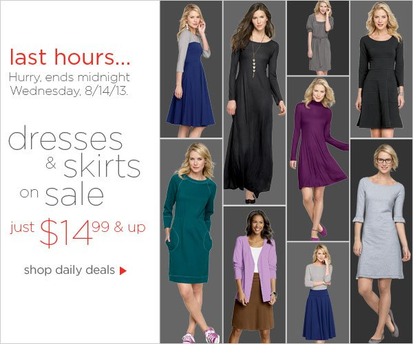 Dresses & Skirts on Sale $14.99 & up