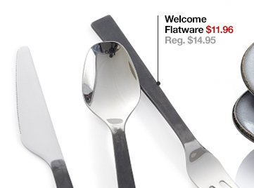 Welcome Flatware $11.96 Reg. $14.95