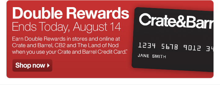 Double Rewards Ends Today, August 14