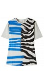 Zebra Stray Print Staple T-Shirt