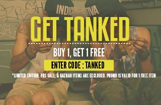 Tanks. Buy 1, Get 1 Free