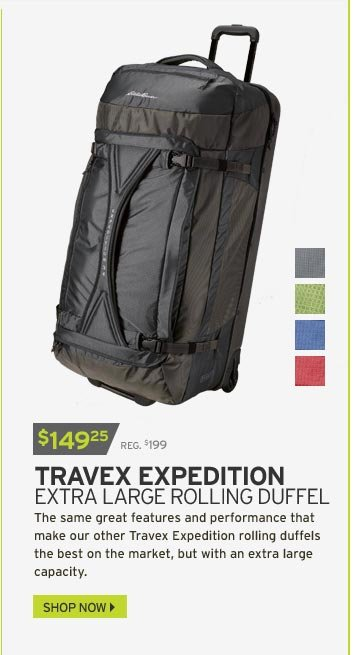 Travex® Expedition Extra Large Rolling Duffel