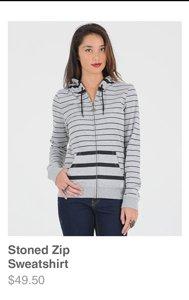 Stoned Zip Sweatshirt
