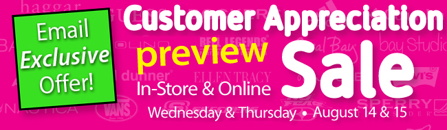 Email Exclusive Offer - Customer Appreciation Preview Sale