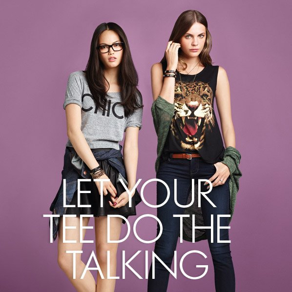 LET YOUR TEE DO THE TALKING