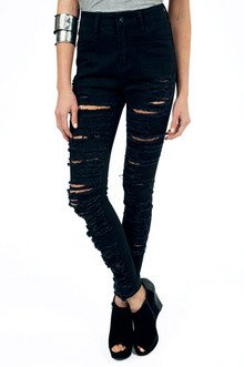 SHREDDED SKINNY JEANS 40