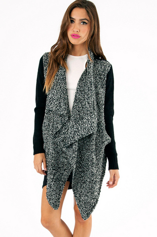 ME SHELLS DRAPED CARDIGAN 49
