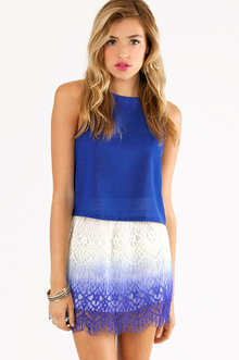 OMBRE LACE CROCHET SKIRT 32