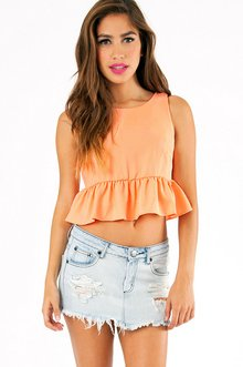 RACHEL'S RUFFLE BOTTOM CROP TOP 26