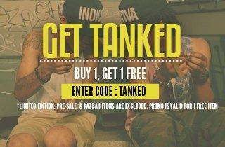 Tanks. Buy 1, Get 1 Free