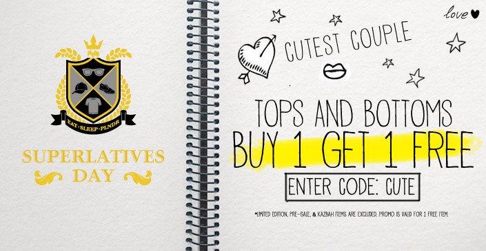 Tops & Bottoms: Buy 1, Get 1 Free