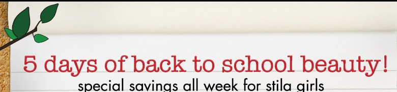 5 days of back to school beauty!