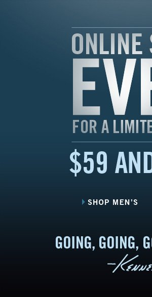ONLINE SUMMER EVENT FOR A LIMITED TIME ONLY: $59 AND UNDER › SHOP MEN'S