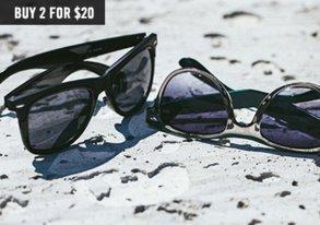 Shop Sunglasses Blowout: Buy 2 for $20