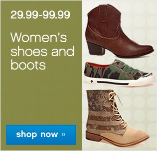 29.99-79.99 Women's shoes and boots. Shop now.