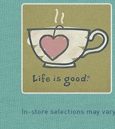 Women's Crusher Tee Heart Tag Tea