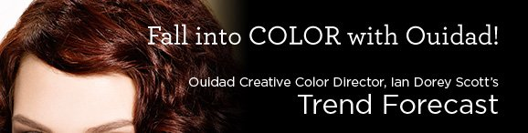 Fall Into COLOR with Ouidad! | Ouidad Creative Color Director, Ian Dorey Scott's Trend Forecast