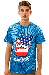 The Peace Joint Tee in Royal and Tie Dye