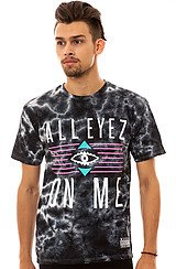 The All Eyez Tee in Black and Tie Dye