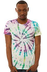 The Vintage Tie Dye Tee in Rainbow Spiral