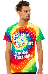 The Roll That Tee in Tie Dye