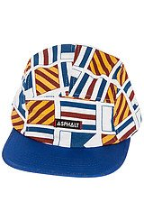 The All Over Nautical Flag 5 Panel Hat in White