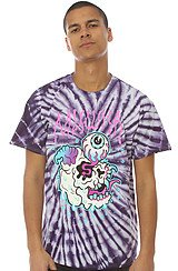 The Simon Flash Tee in Purple Tie Dye