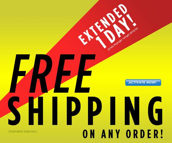 SHIP FREE, Ends at Midnight!