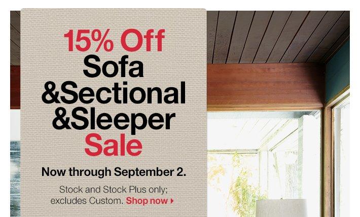 15% Off Sofa&Sectional&Sleeper Sale