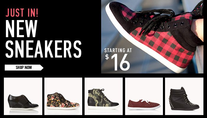 Just In! New Sneakers - Shop Now