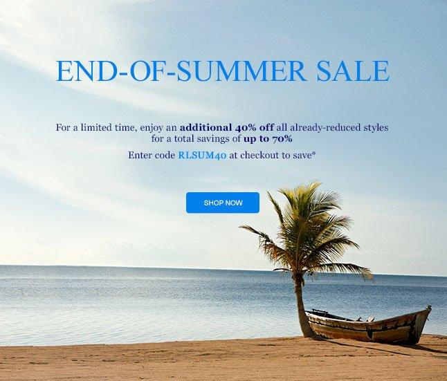 End-Of-Summer Sale