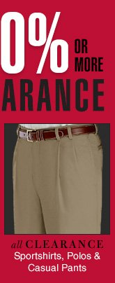 Reduced 40% or more - Clearance Sportshirts, Polos & Casual Pants