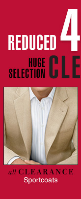 Reduced 40% or more - Clearance Sportcoats