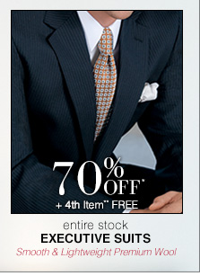 Executive Suits - 70% Off* 4th Item** Free