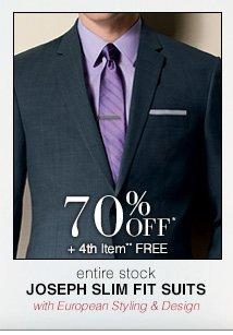 Joseph Slim Fit Suits - 70% Off* 4th Item** Free