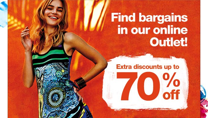 Find bargains in our online Outlet!