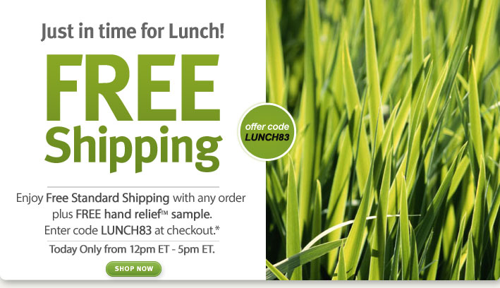 just in time for lunch! free shipping. shop now.