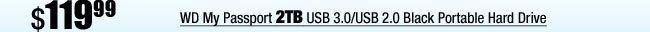 WD My Passport 2TB USB 3.0/USB 2.0 Black Portable Hard Drive