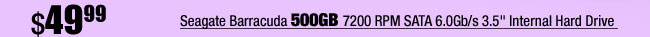 "Seagate Barracuda 500GB 7200 RPM SATA 6.0Gb/s 3.5"" Internal Hard Drive"
