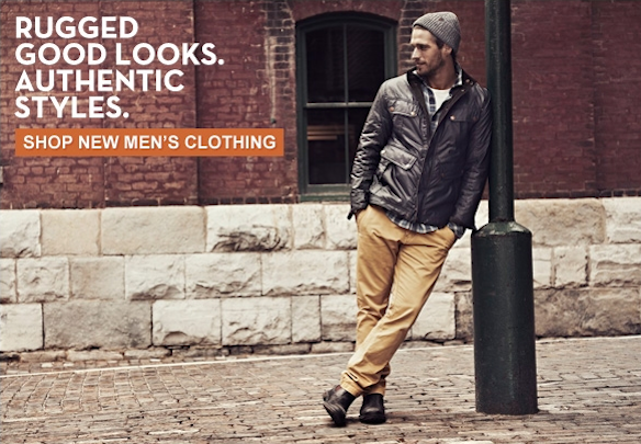 Rugged good looks. Authentic styles. Shop New Men's Clothing.
