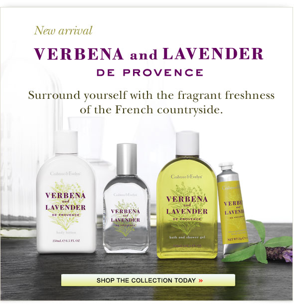 New arrival - Verbena and Lavender de Provece. Shop Now.